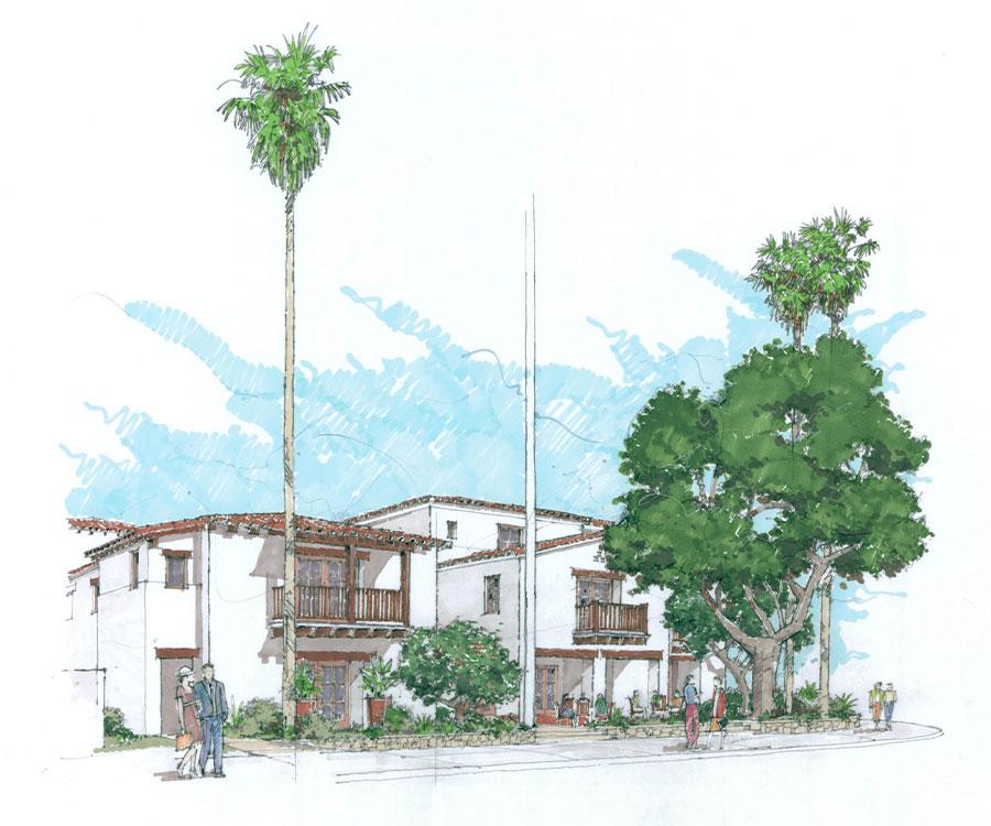 Rendering of 800 Santa Barbara apartments